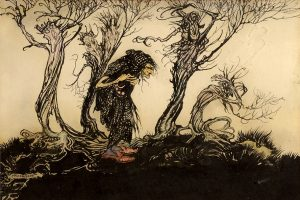 Bruxa - Arthur Rackham