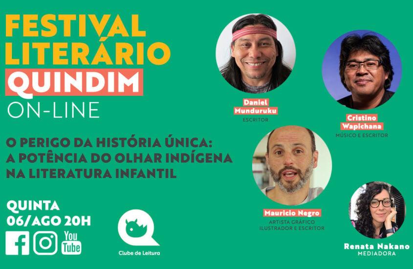 Festival Literário: A POTÊNCIA DO OLHAR INDÍGENA NA LITERATURA INFANTIL