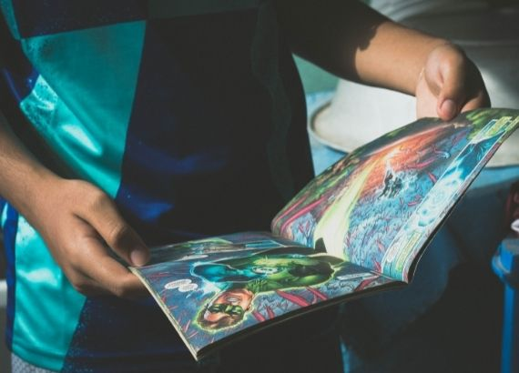 Veja histórias em quadrinhos para crianças